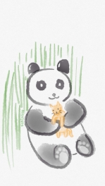 Panda Hugs Kitty